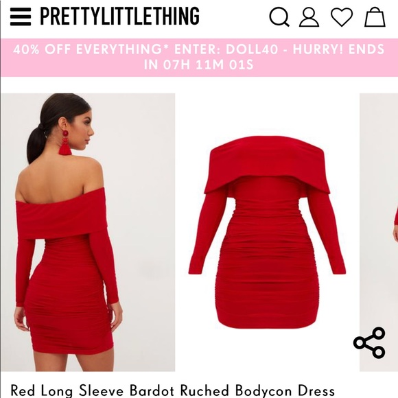 067e31b5b0 PrettyLittleThing Dresses | Pretty Little Thing Red Party Dress ...